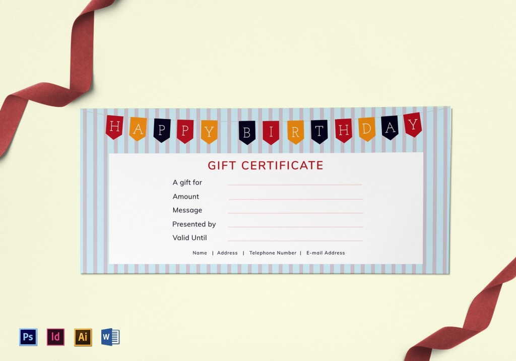 006 Awful Free Printable Birthday Gift Voucher Template High Definition Large