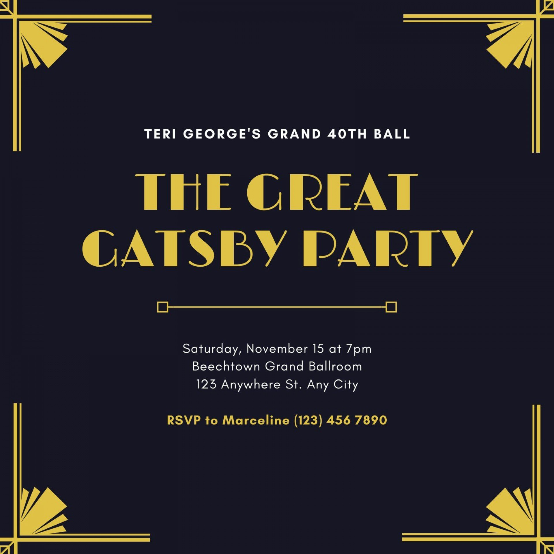 006 Awful Great Gatsby Invitation Template High Resolution  Templates Free Download Blank1920