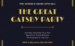 006 Awful Great Gatsby Invitation Template High Resolution  Templates Free Download Blank
