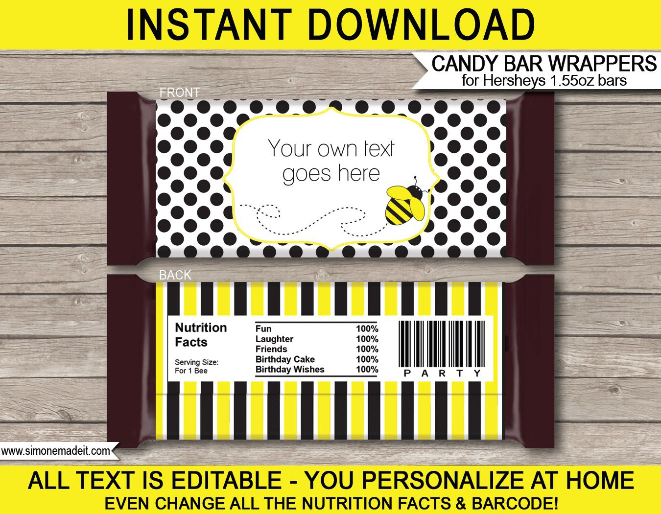 006 Awful Hershey Candy Bar Wrapper Template Photo  Free WordFull