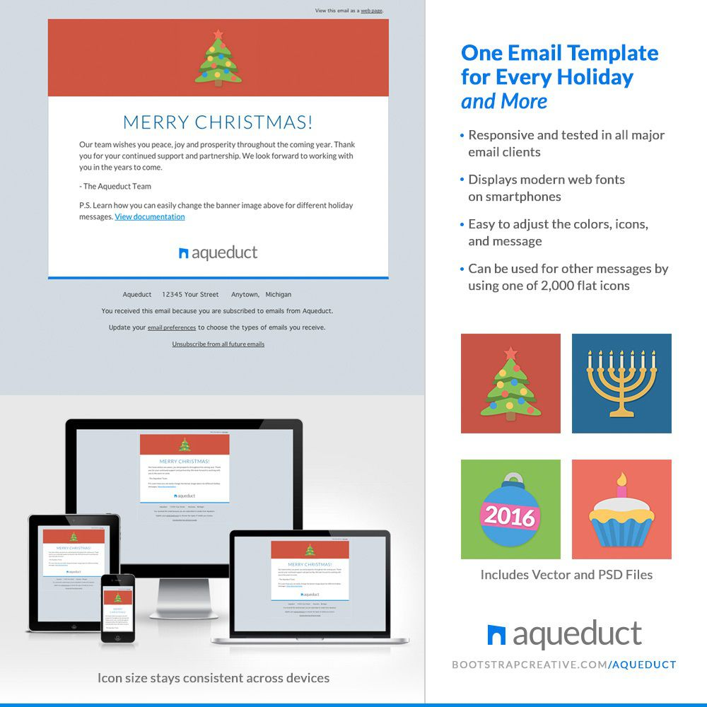 006 Awful Holiday E Mail Template High Resolution  Templates Mailchimp EmailFull