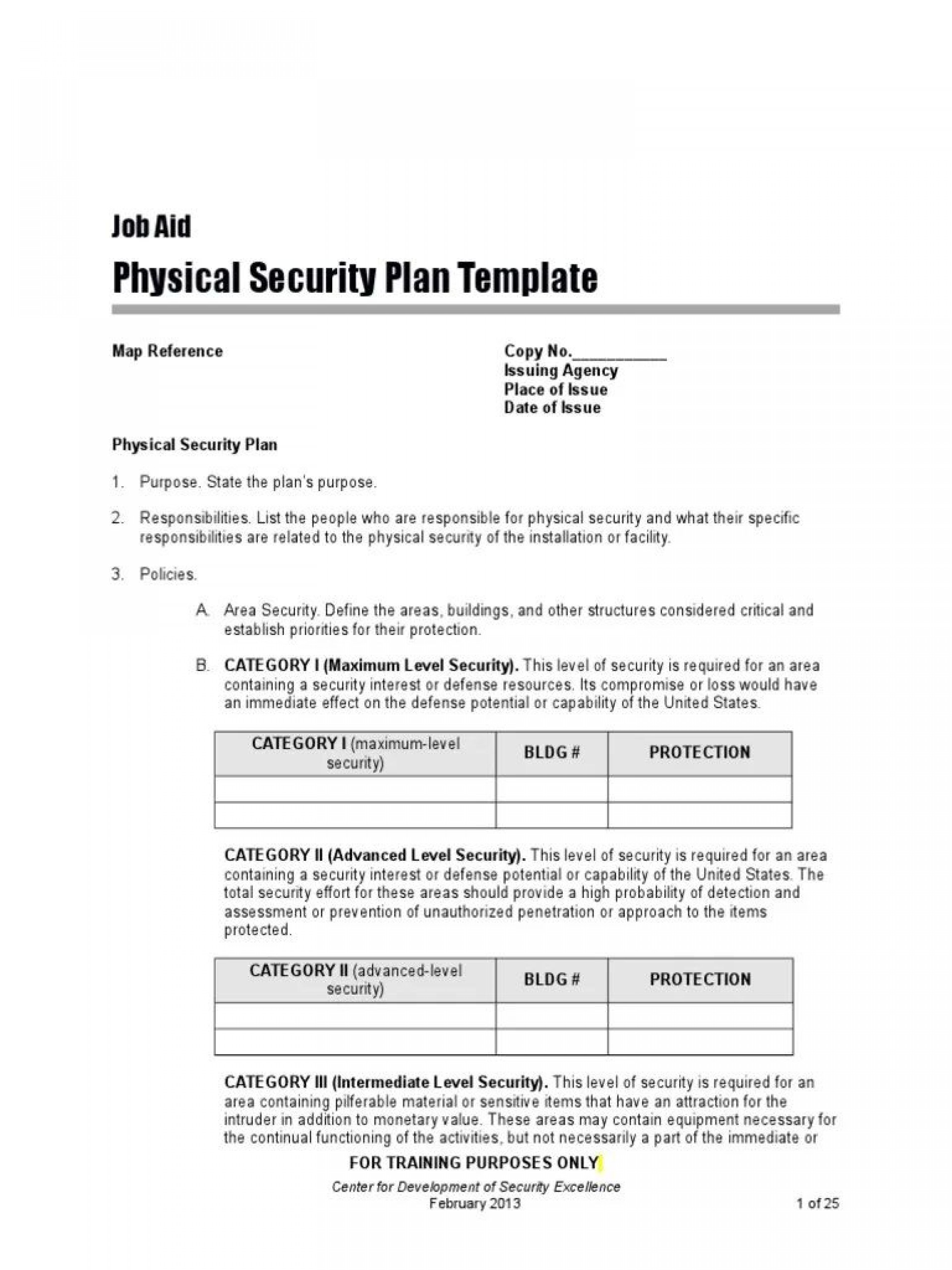 Physical Security Policy Template Addictionary