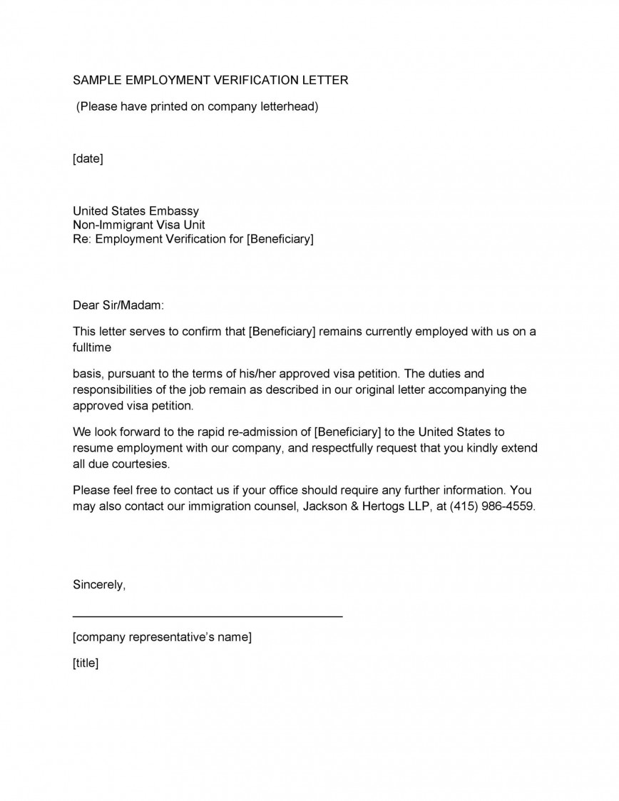 006 Awful Proof Of Employment Letter Template Doc Example  Confirmation Document Sample