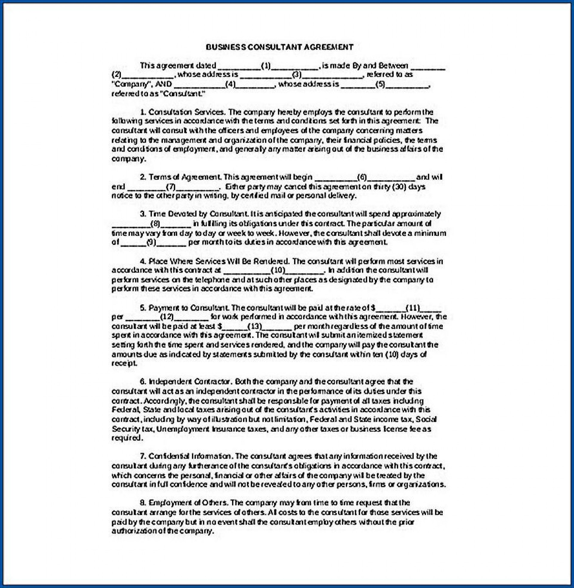 006 Awful Simple Consulting Agreement Template Idea  Free Uk Pdf1920