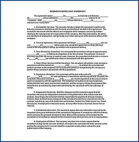 006 Awful Simple Consulting Agreement Template Idea  Service Uk Free480