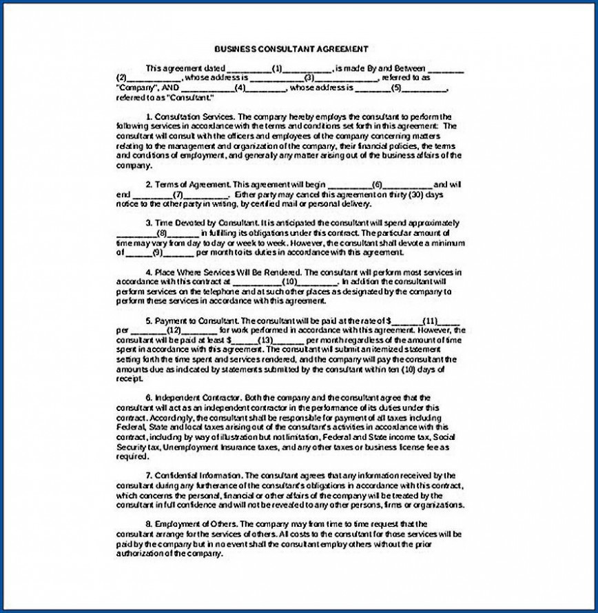 006 Awful Simple Consulting Agreement Template Idea  Uk Word Free