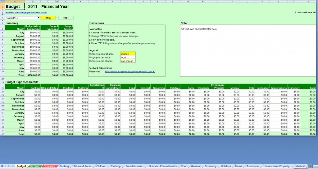 006 Awful Simple Excel Budget Template Design  Personal South Africa Household FreeLarge
