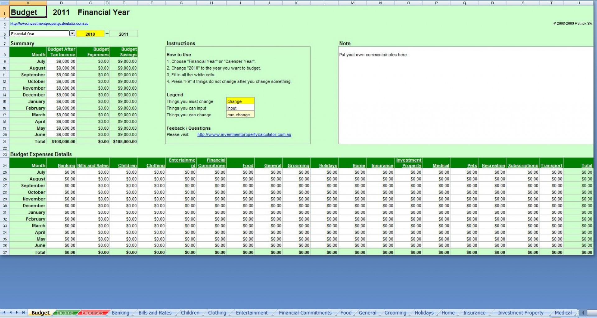006 Awful Simple Excel Budget Template Design  Personal South Africa Household Free1920