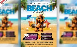 006 Awful Summer Party Flyer Template Free Download Idea