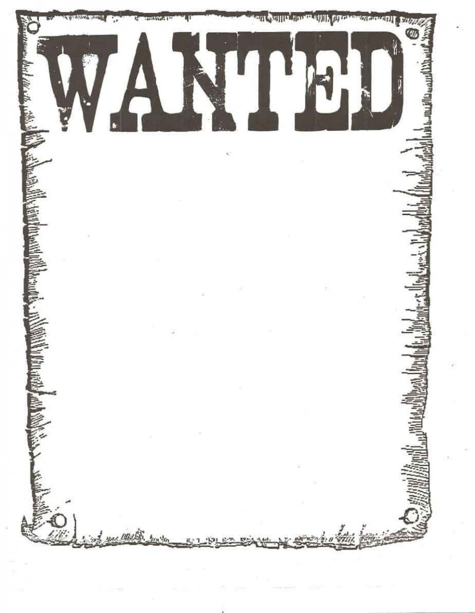 006 Awful Wanted Poster Template Microsoft Word High Resolution  Western Most960