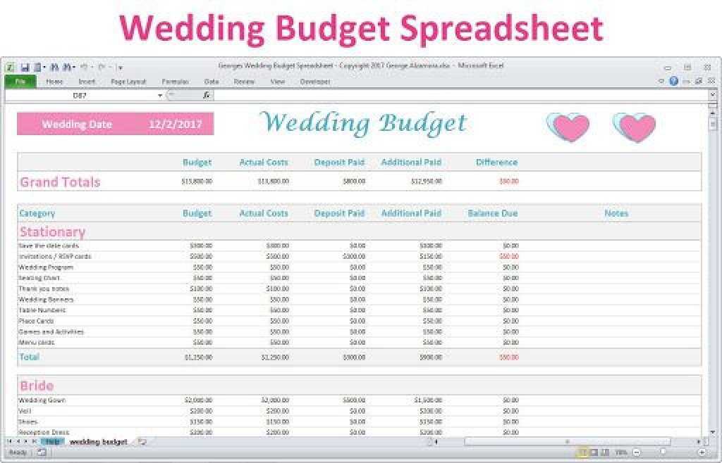 006 Awful Wedding Budget Template Excel High Resolution  South Africa Sample SpreadsheetLarge