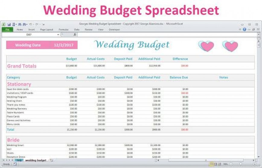 006 Awful Wedding Budget Template Excel High Resolution  South Africa