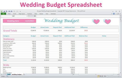 006 Awful Wedding Budget Template Excel High Resolution  South Africa Sample SpreadsheetFull