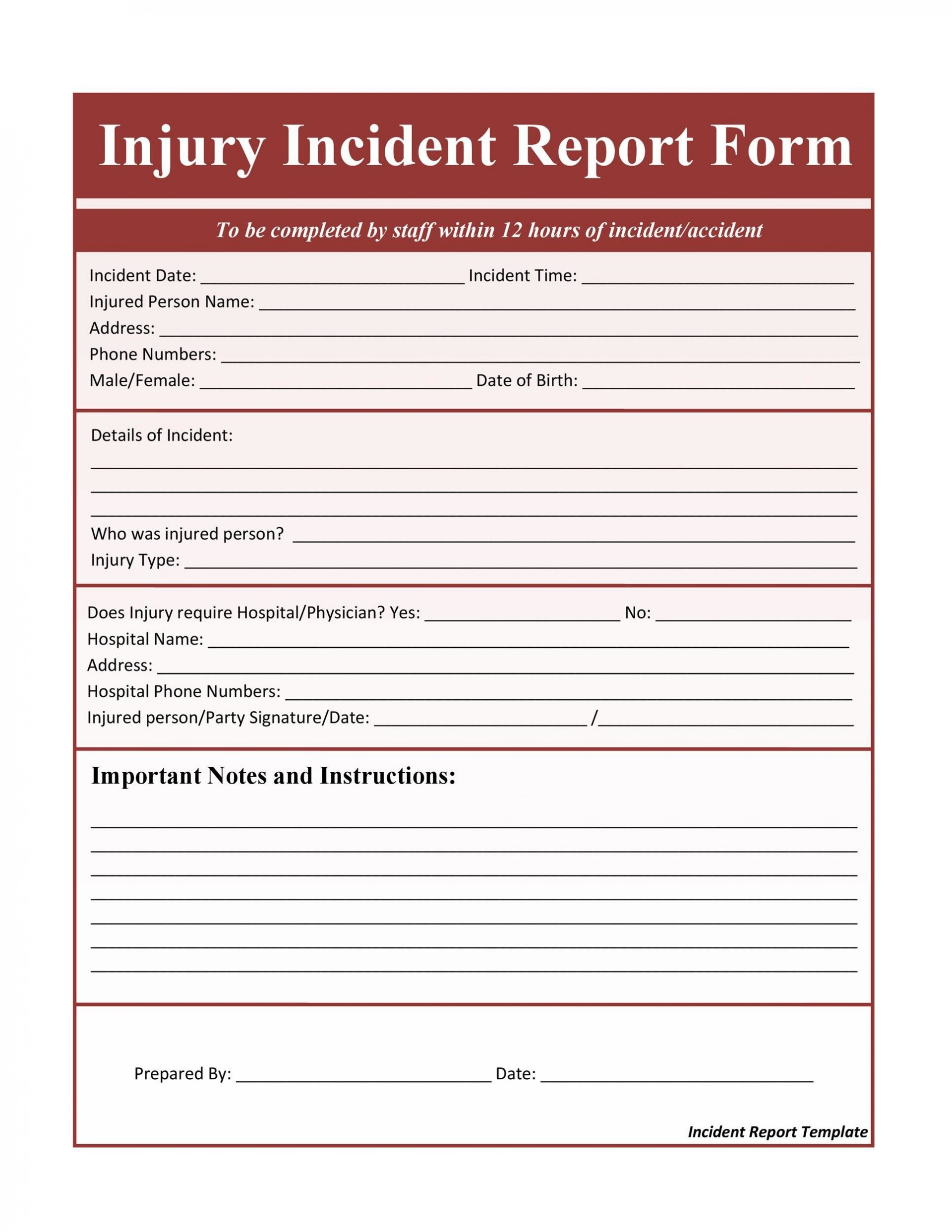 006 Beautiful Accident Report Form Template Highest Quality  Templates Free Ireland Hse1920