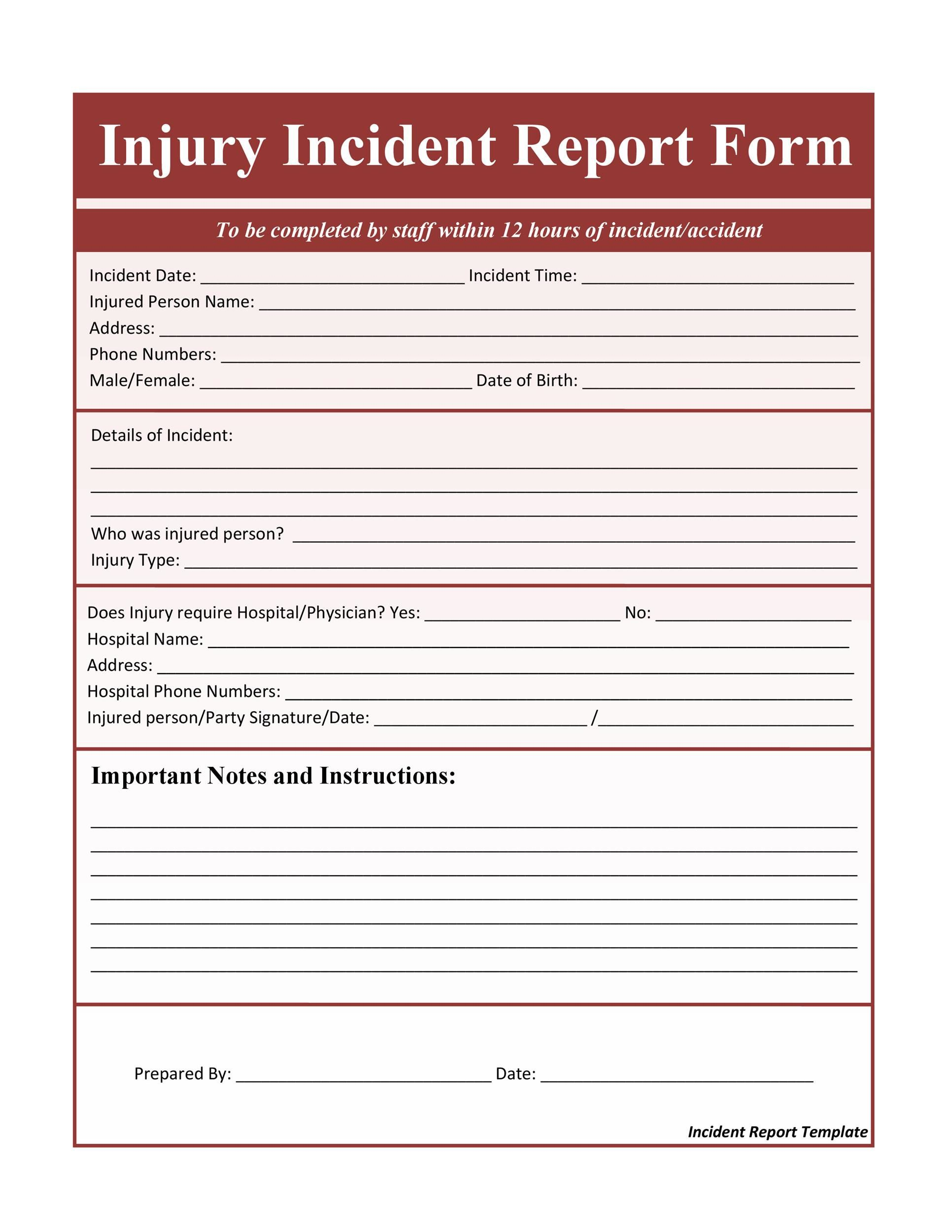 006 Beautiful Accident Report Form Template Highest Quality  Templates Free Ireland HseFull