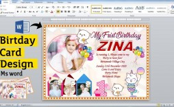006 Beautiful Birthday Card Template For Word 2010 Picture  Greeting Microsoft