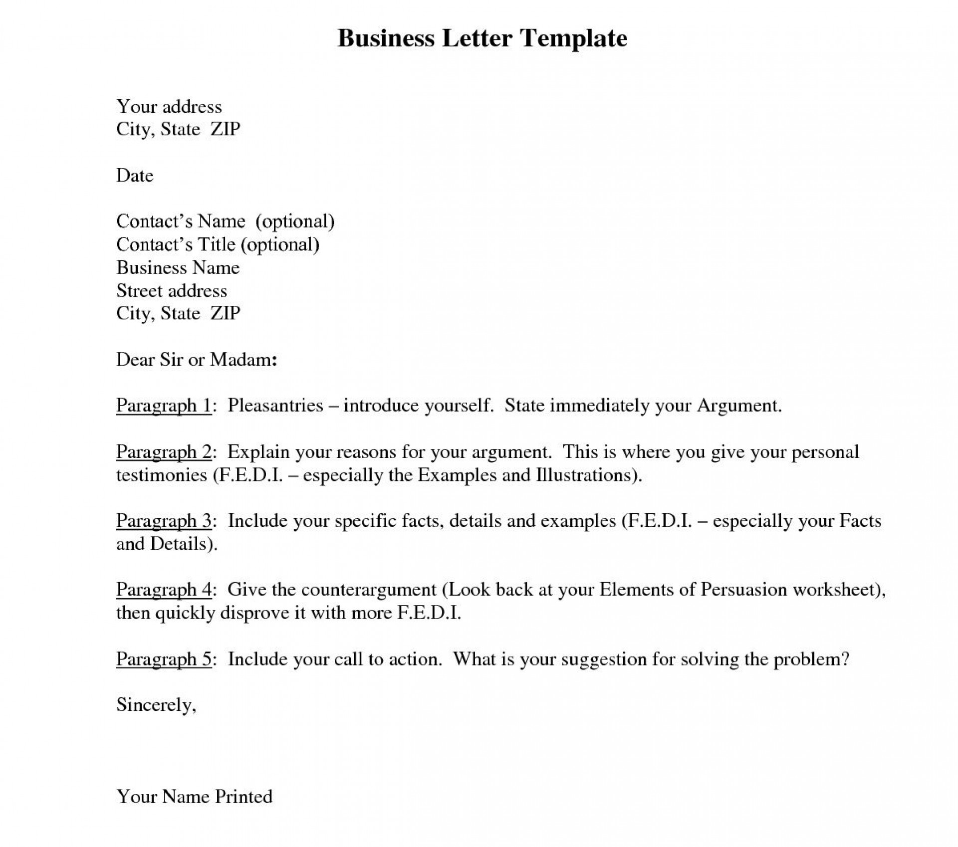 006 Beautiful Busines Letter Template Word High Def  Cover Free1920