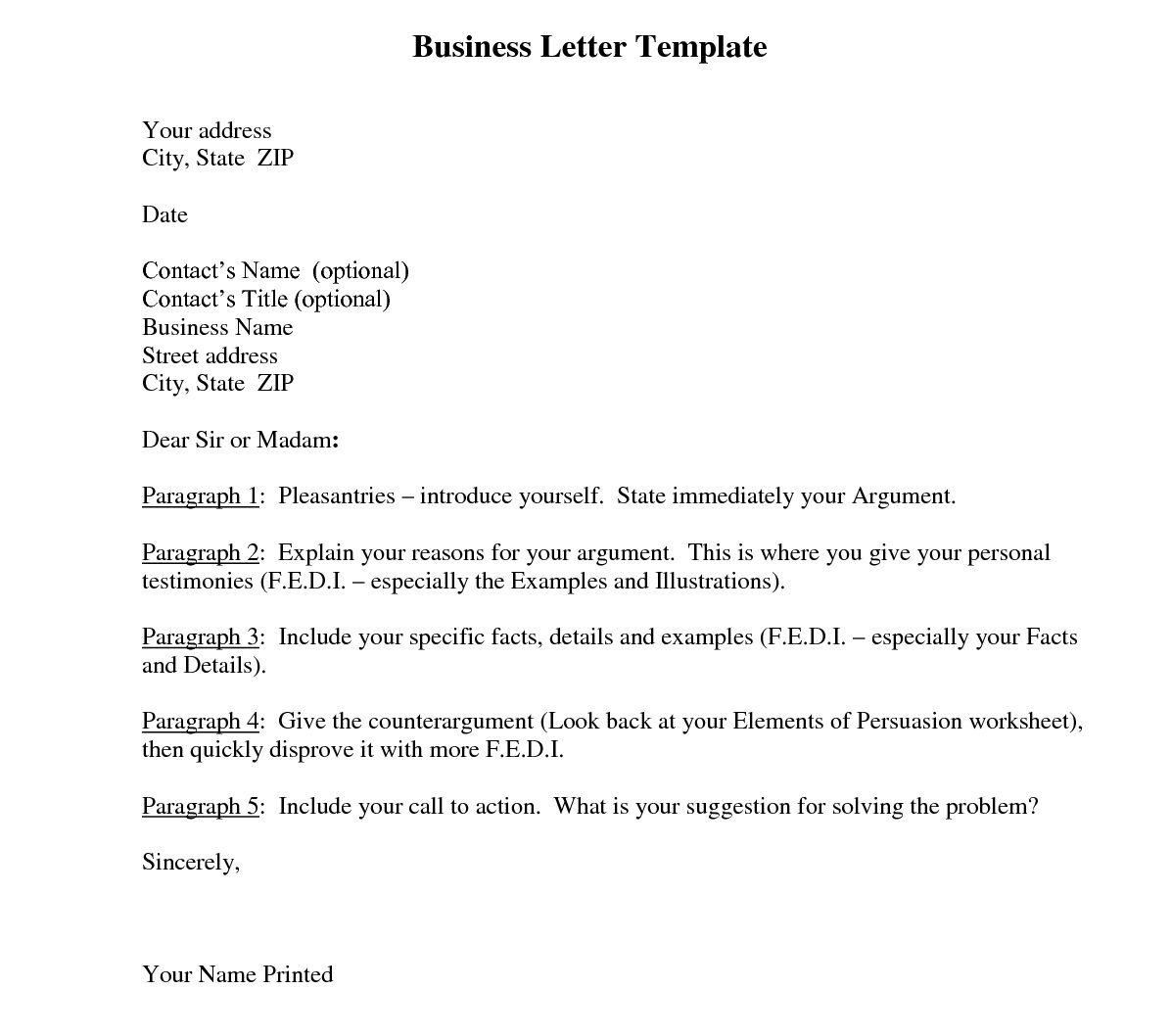 006 Beautiful Busines Letter Template Word High Def  Cover FreeFull