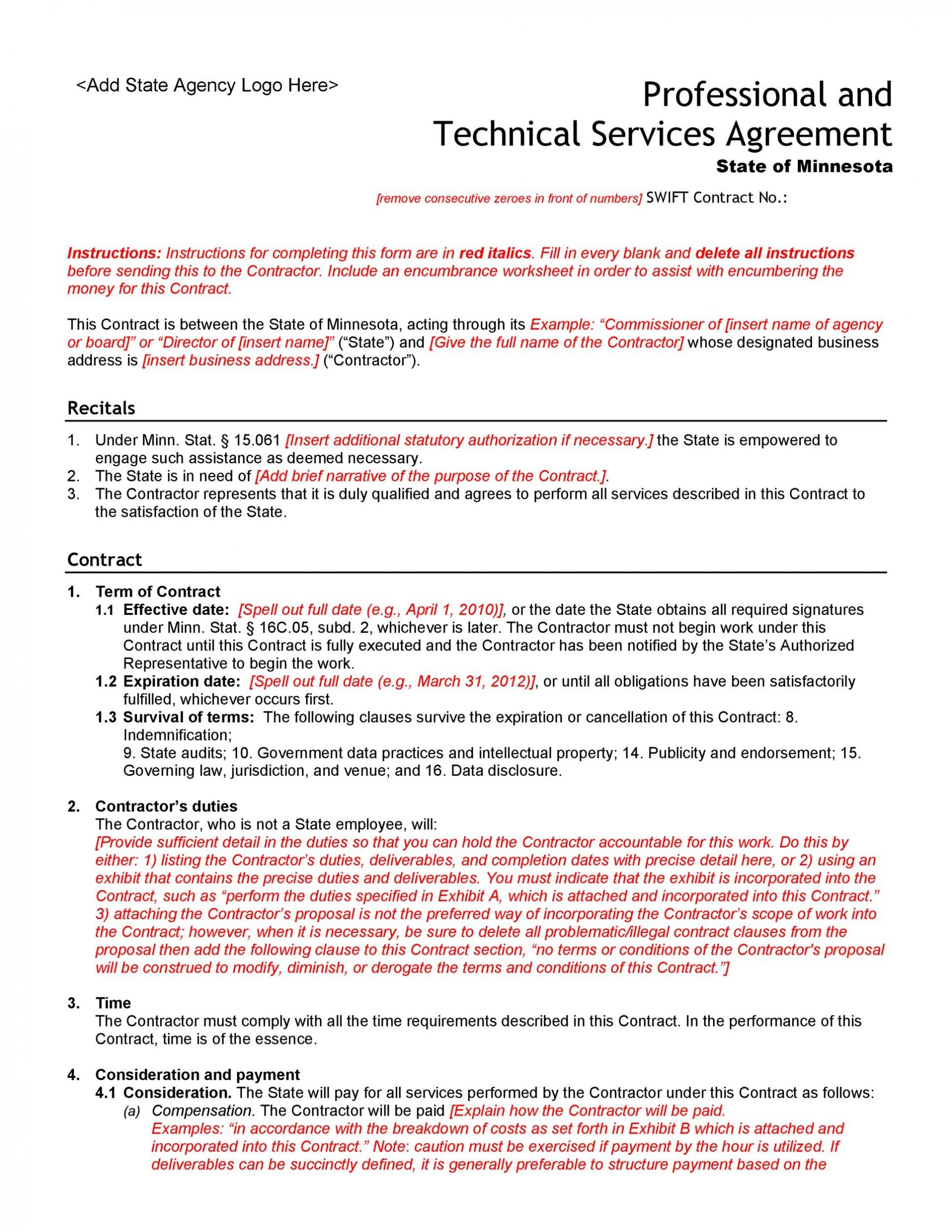 006 Beautiful Busines Service Contract Template Sample  Small Agreement1920