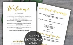 006 Beautiful Destination Wedding Welcome Letter Template Sample  And Itinerary