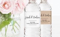 006 Beautiful Diy Water Bottle Label Template Free Sample