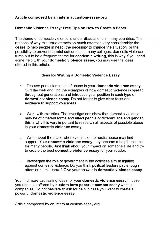 006 Beautiful Domestic Violence Essay Image  Persuasive Topic QuestionLarge