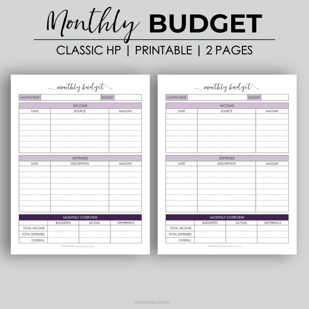 006 Beautiful Free Monthly Budget Template Pdf High Definition  Fillable Household WorksheetLarge