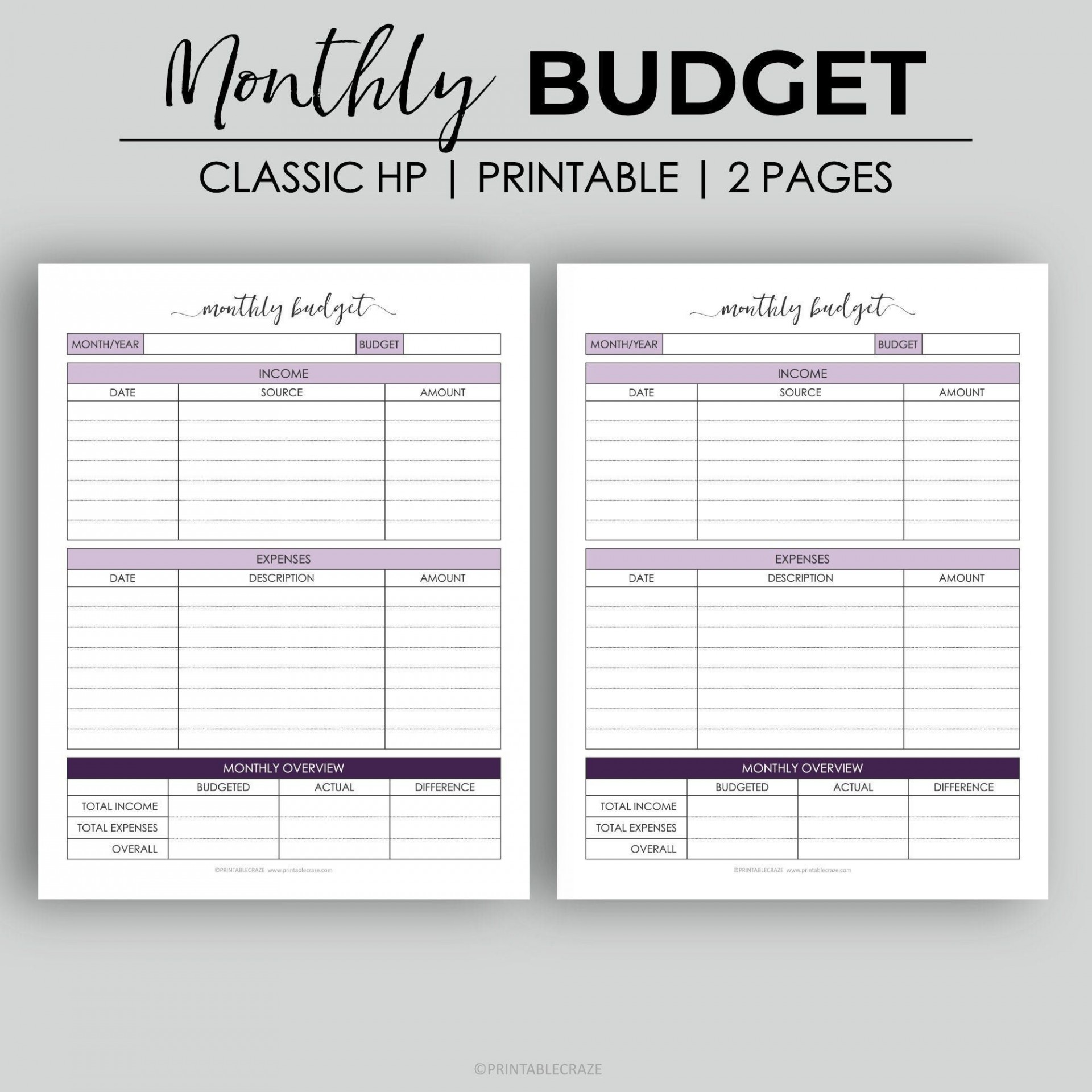 006 Beautiful Free Monthly Budget Template Pdf High Definition  Fillable Household Worksheet1920
