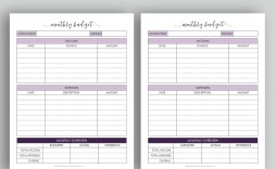 006 Beautiful Free Monthly Budget Template Pdf High Definition  Fillable Household Worksheet