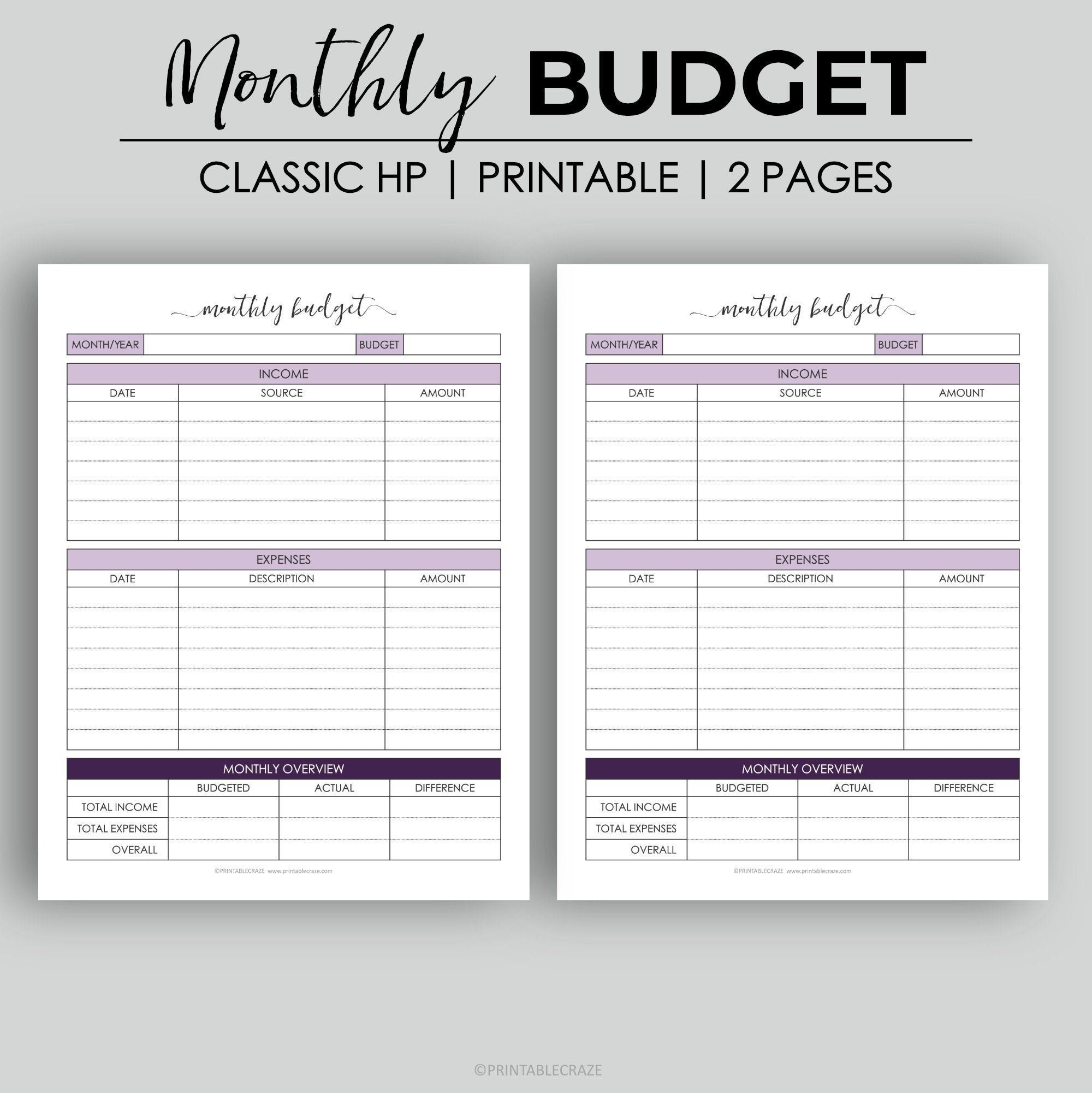 006 Beautiful Free Monthly Budget Template Pdf High Definition  Fillable Household WorksheetFull