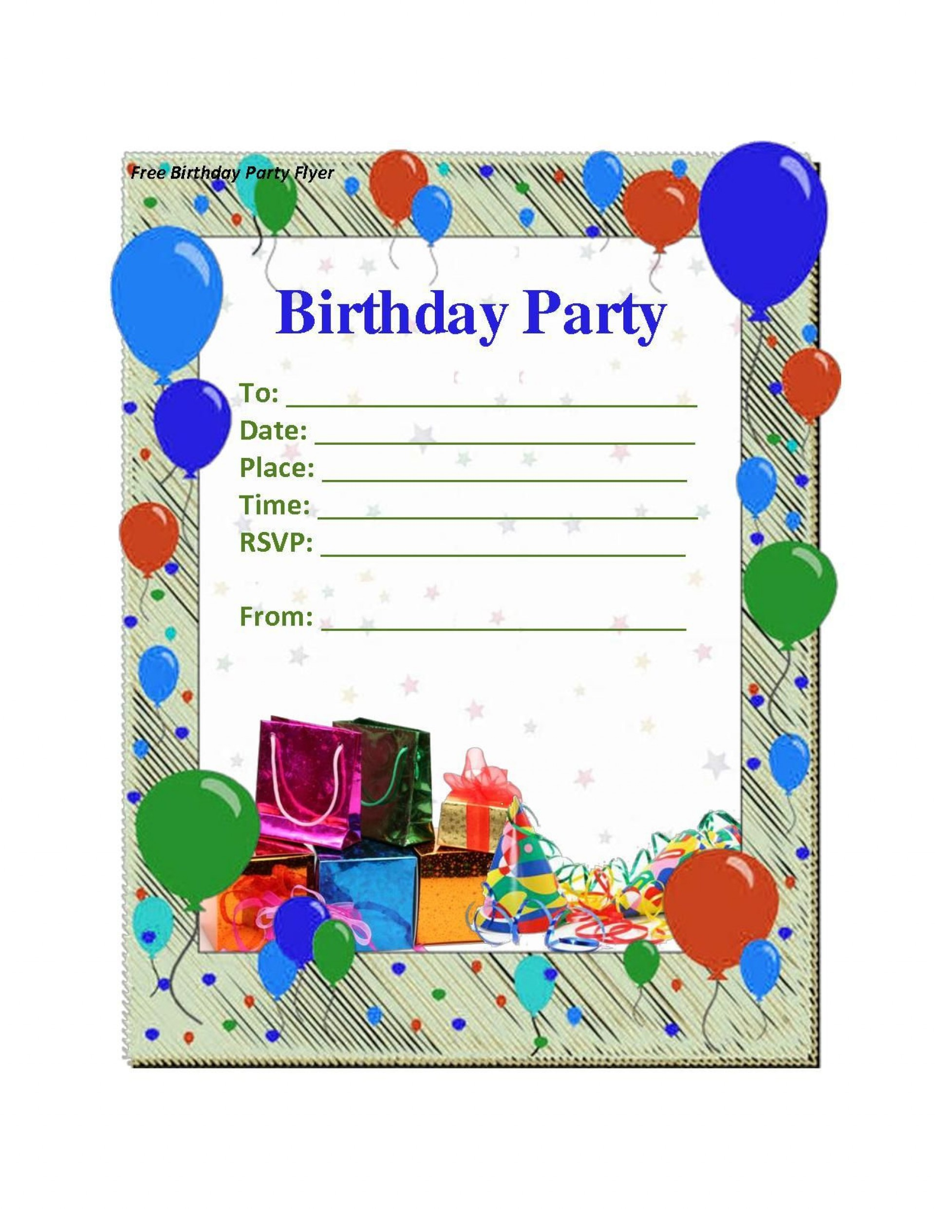 Free Party Invitation Template Online ~ Addictionary