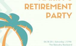 006 Beautiful Retirement Party Invite Template Design  Invitation Online M Word Free
