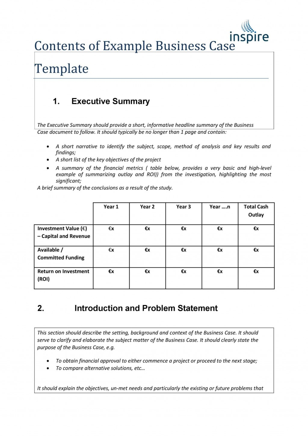 006 Beautiful Simple Busines Case Template High Resolution  Ppt Proposal Example PdfLarge