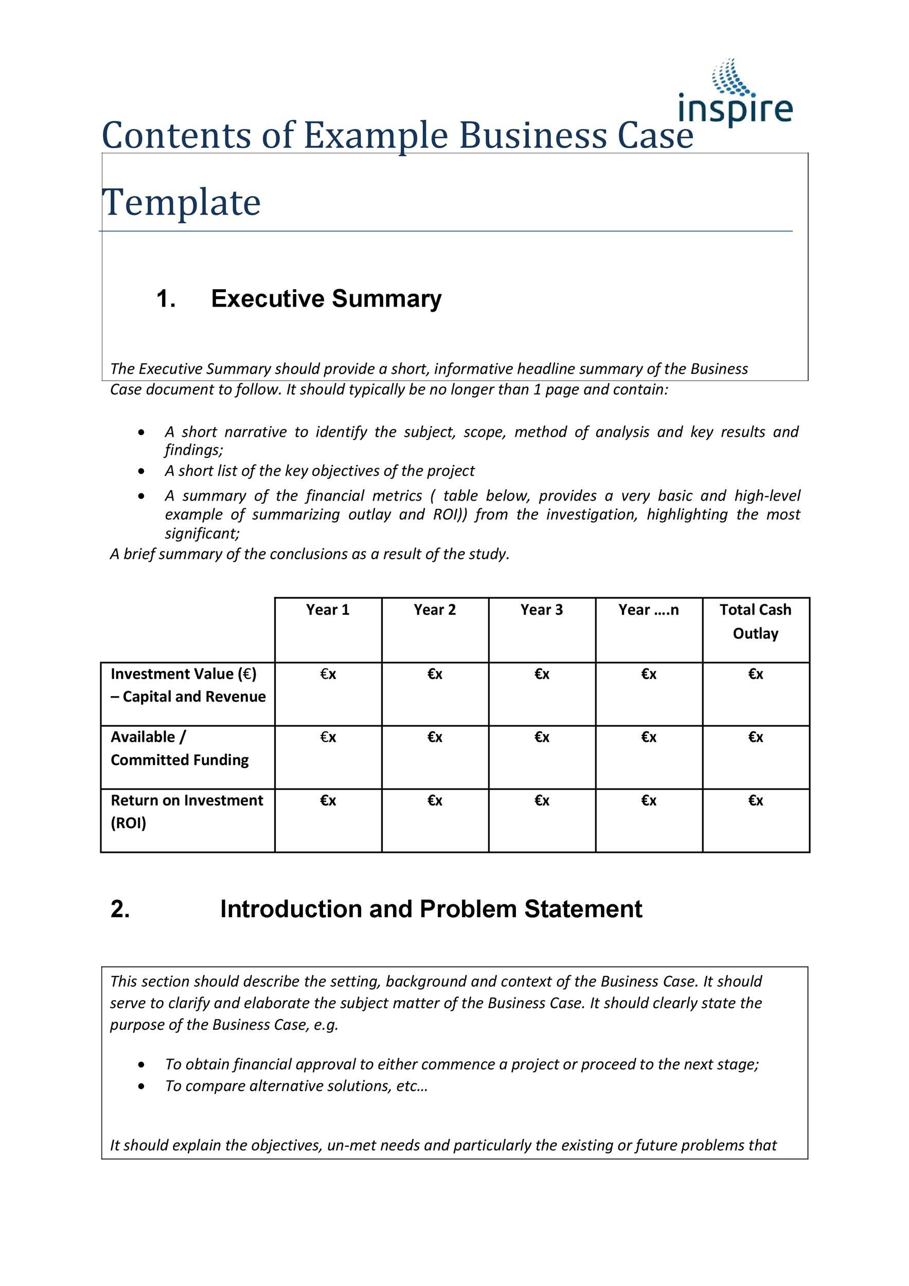006 Beautiful Simple Busines Case Template High Resolution  Ppt Proposal Example PdfFull