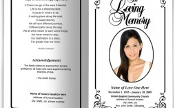006 Beautiful Simple Funeral Program Template Free Example  Download