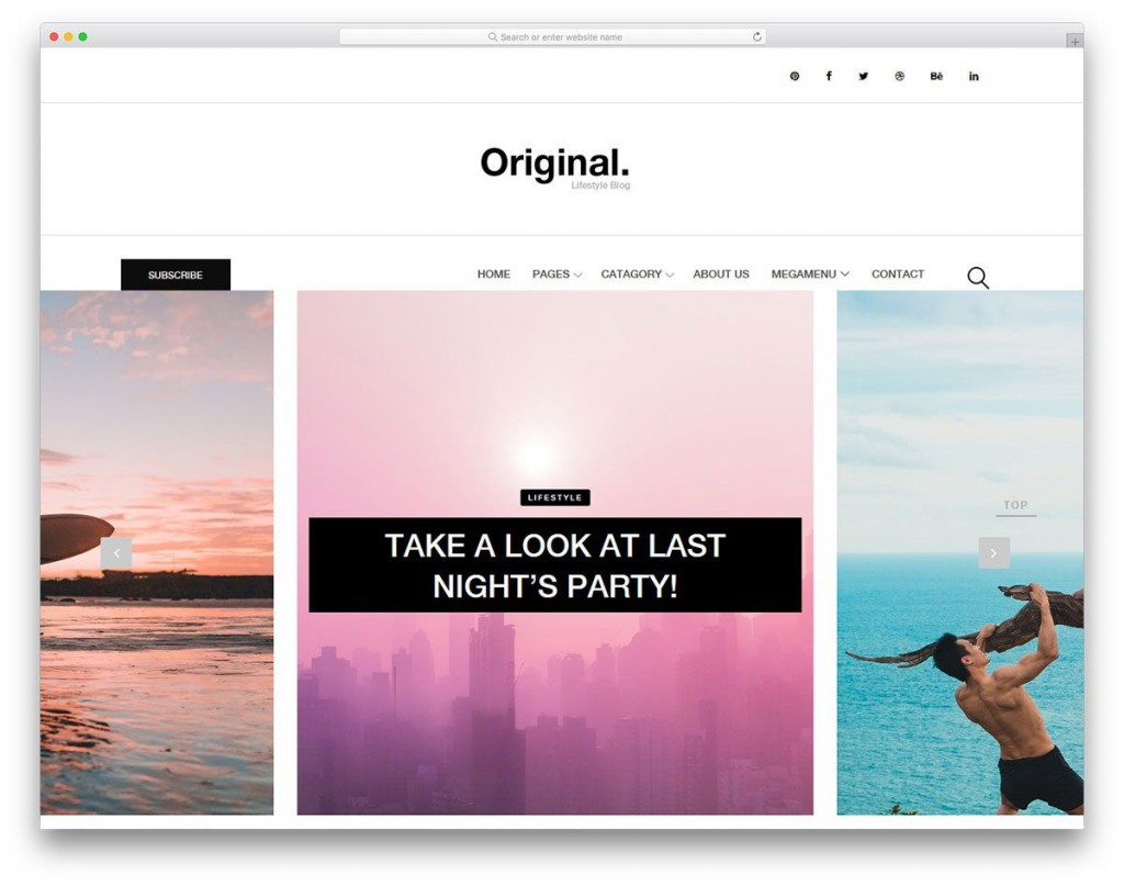 006 Beautiful Simple Html Blog Template Free Download Sample  With CsLarge