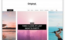 006 Beautiful Simple Html Blog Template Free Download Sample  With Cs