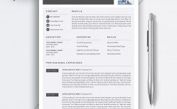 006 Beautiful Simple Professional Cv Template Word Highest Clarity