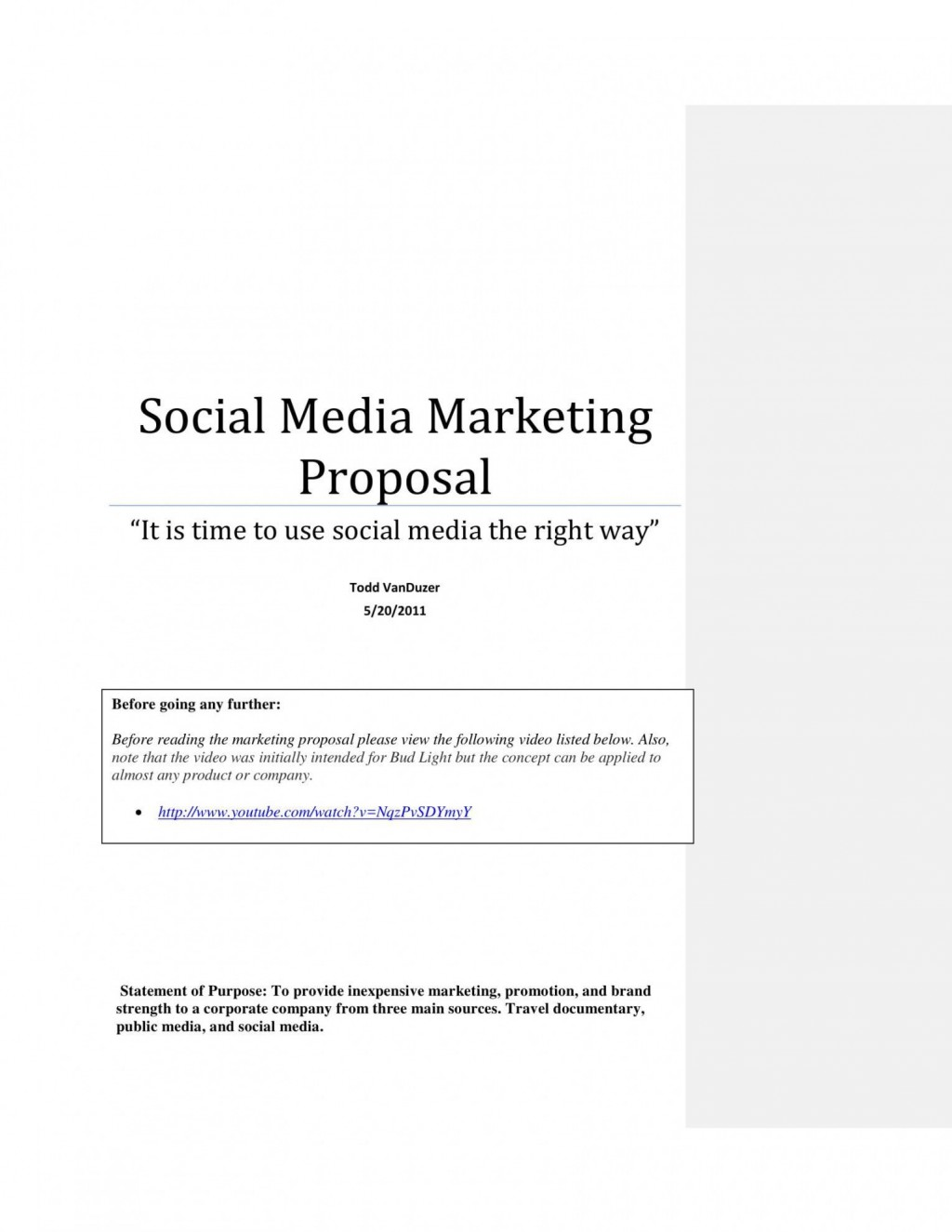 006 Beautiful Social Media Marketing Proposal Template Word Design  PlanLarge