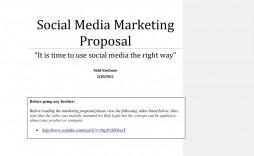 006 Beautiful Social Media Marketing Proposal Template Word Design  Plan