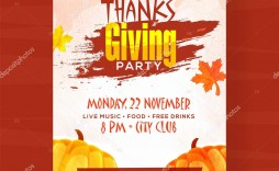 006 Beautiful Thanksgiving Flyer Template Free Concept  Food Drive Party