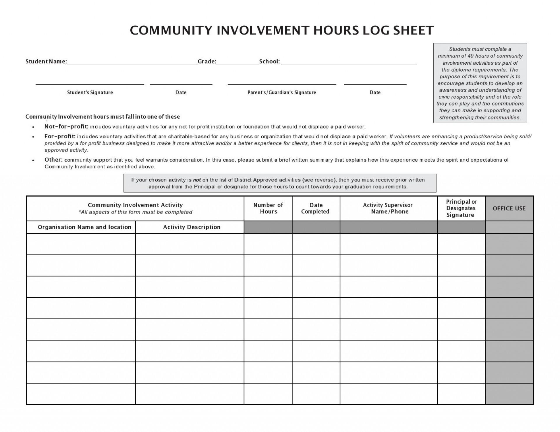 006 Beautiful Volunteer Hour Form Template Image  Service Community Pdf1920