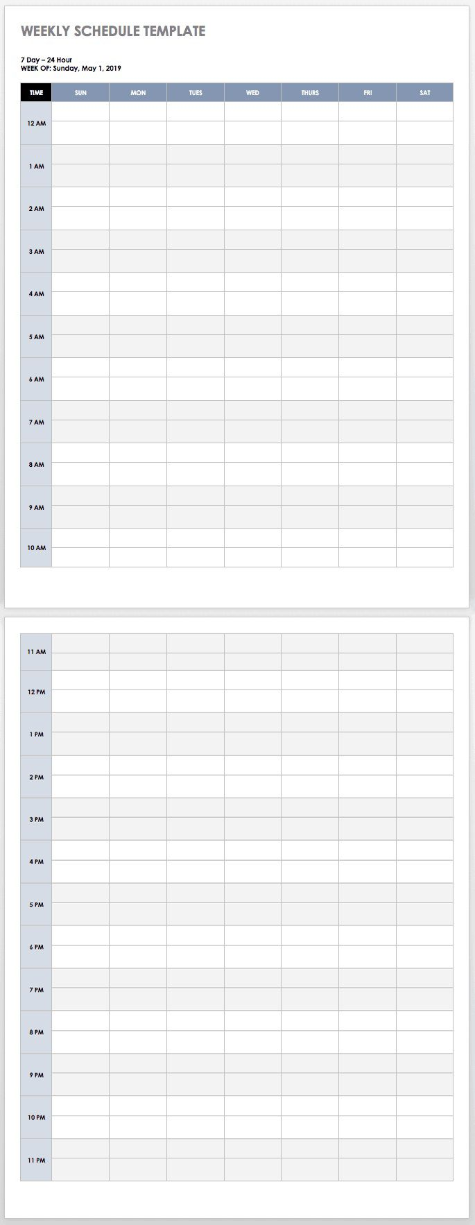 006 Beautiful Weekly Schedule Template Word Picture  School Work PlanFull