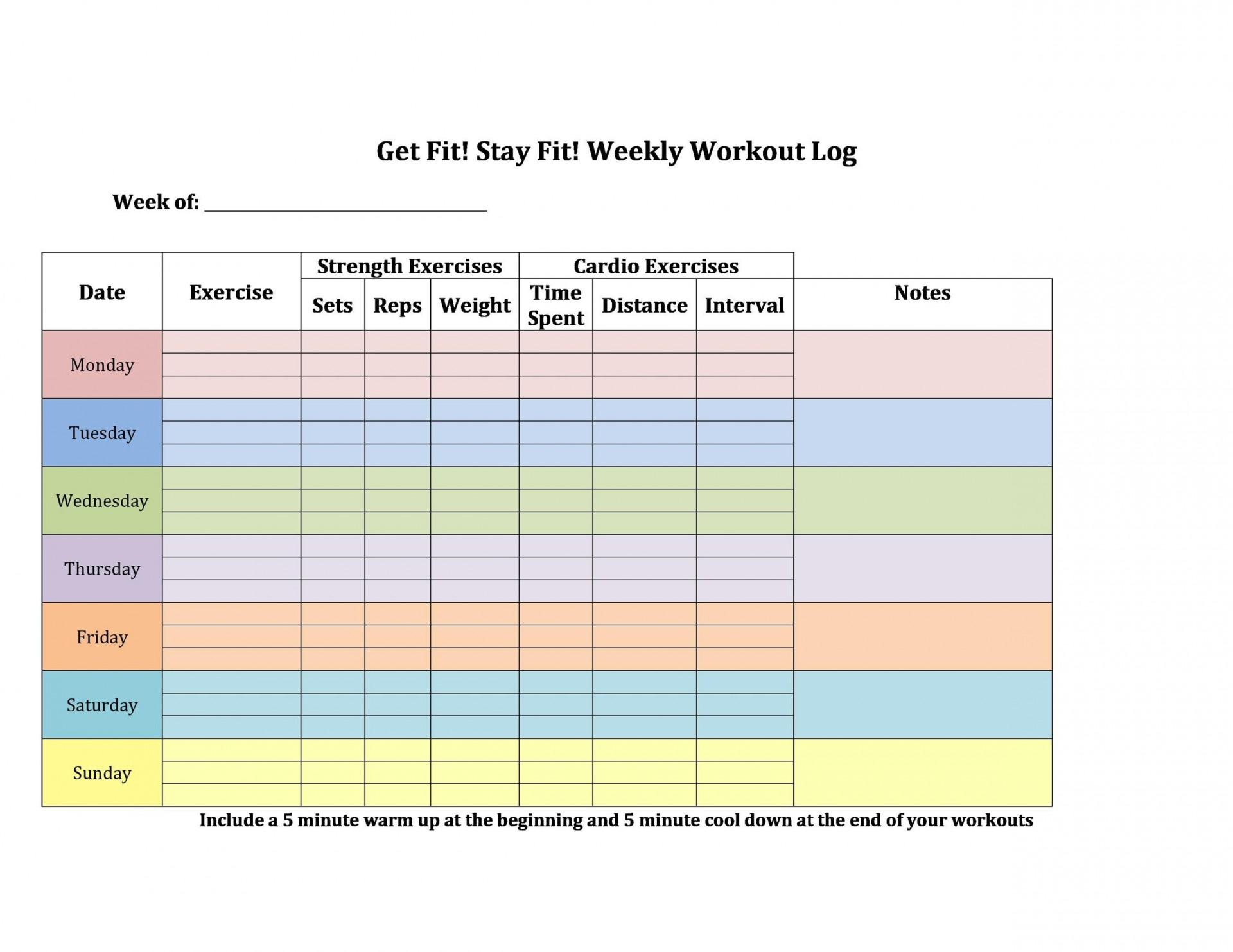 006 Beautiful Weekly Workout Schedule Template Concept  12 Week Plan Training Calendar1920