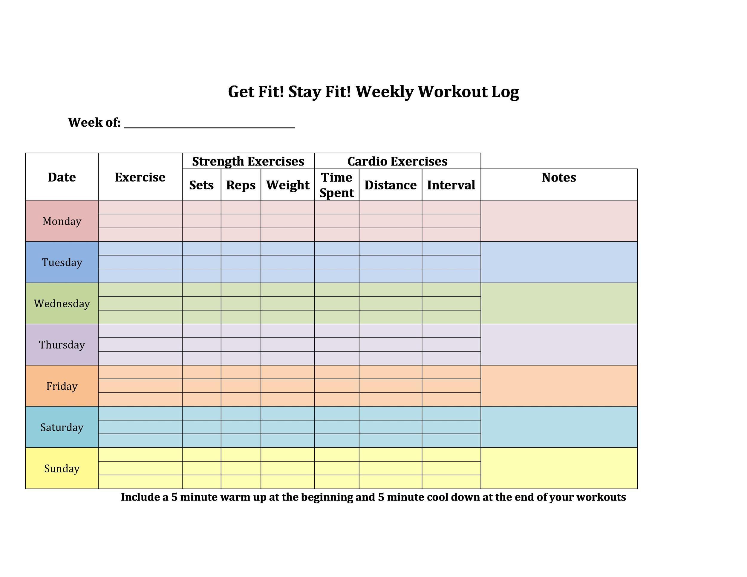006 Beautiful Weekly Workout Schedule Template Concept  12 Week Plan Training CalendarFull