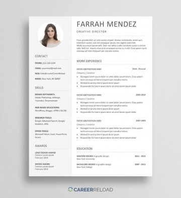 006 Beautiful Word Resume Template Free Download Picture  M Creative Curriculum Vitae Cv360