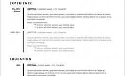 006 Best Basic Resume Template Free Idea  Easy Download Word Australia Doc