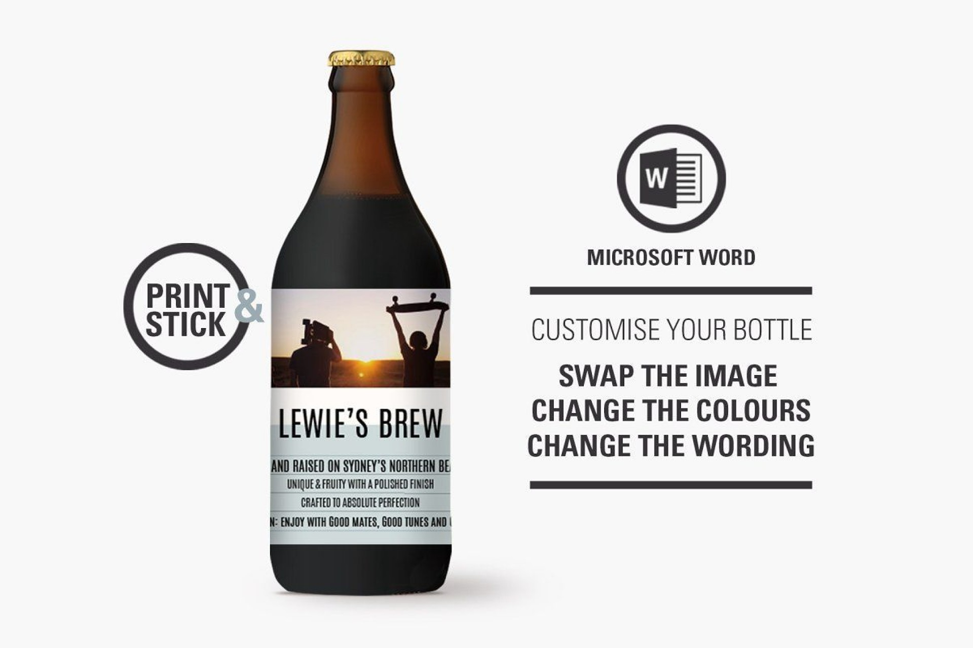 006 Best Beer Bottle Label Template Word Image  Free1920