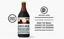 006 Best Beer Bottle Label Template Word Image  Free