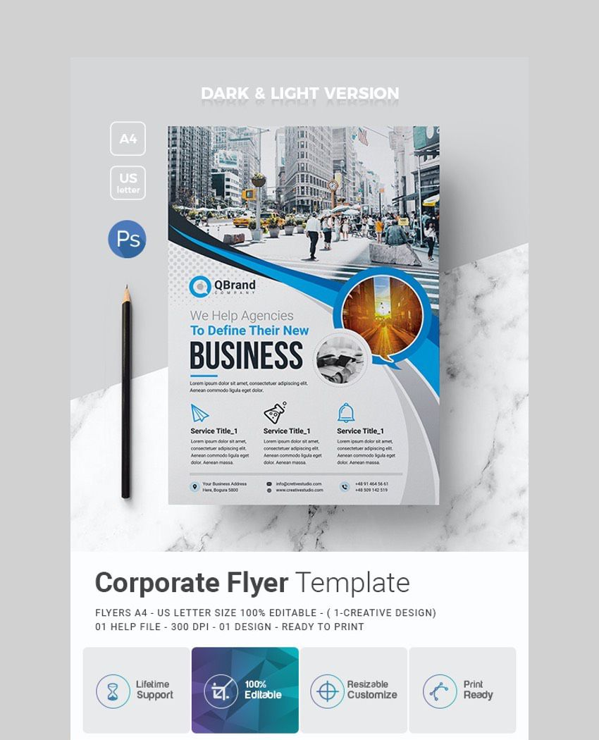 006 Best Busines Flyer Template Free Printable Picture Full
